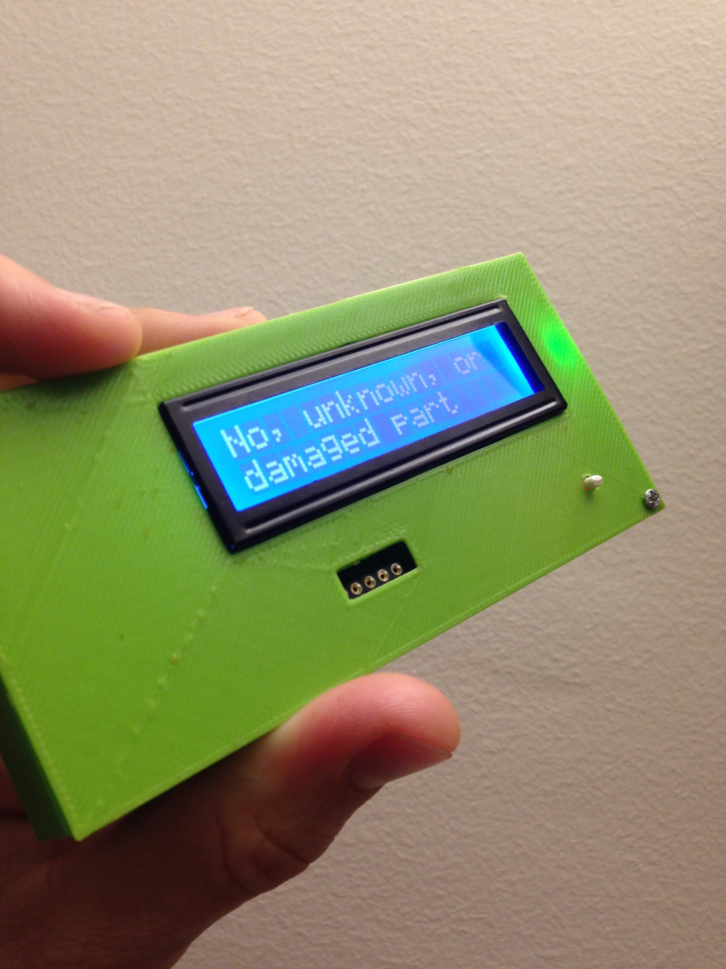 Picture of 3D Printed Case for Transistor Tester