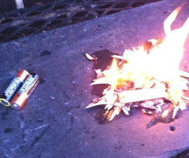 Make Fire With Batteries
