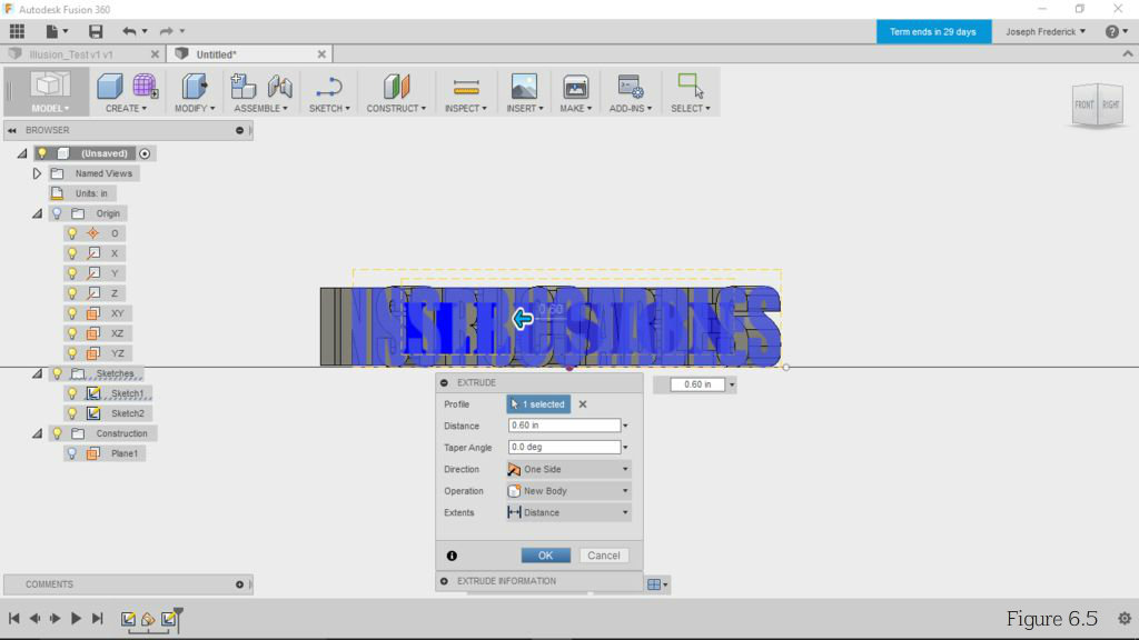 Picture of Extrude Your Solid Base Text