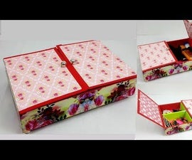 How to Make an Easy Organizer From Waste Sweet Box?