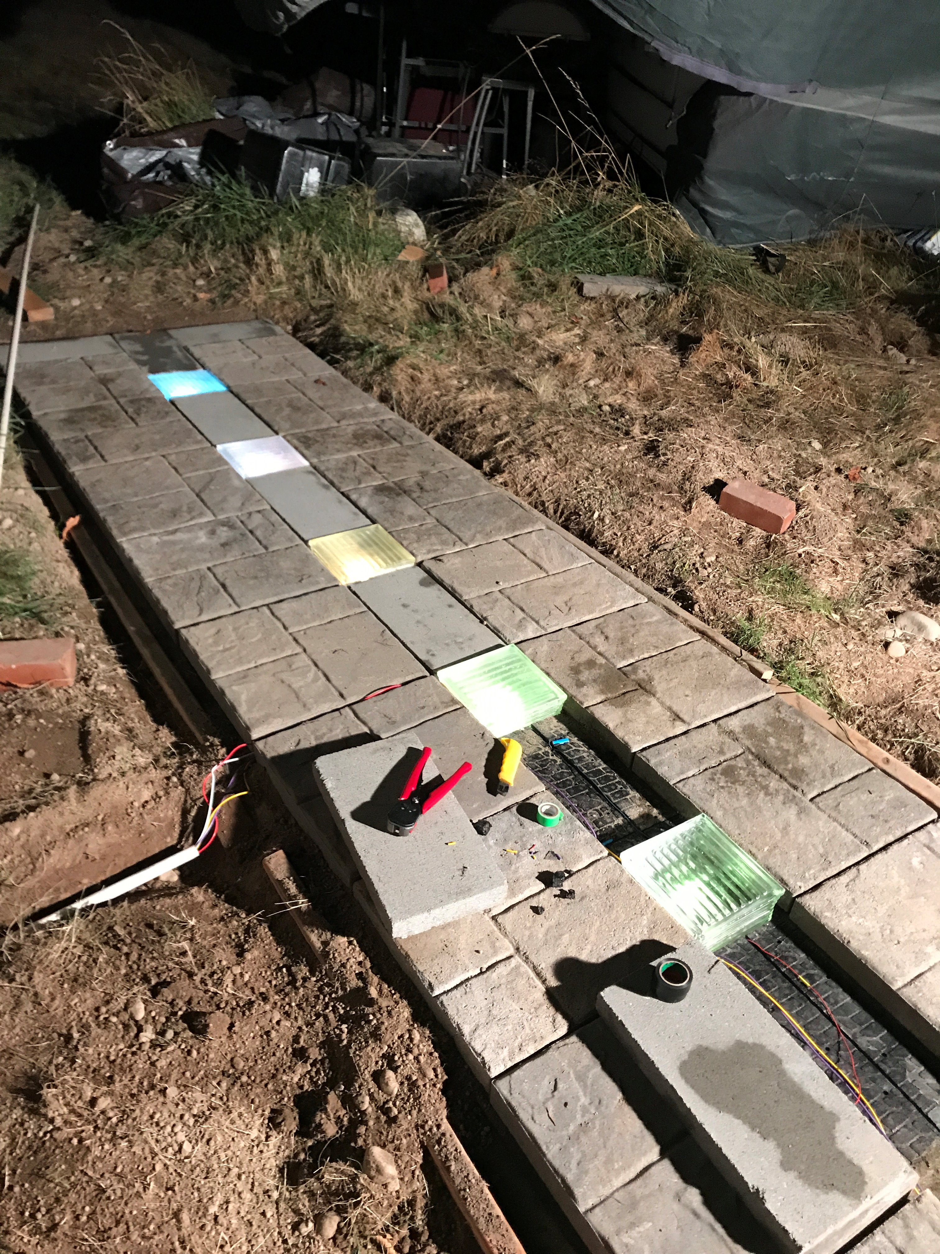 Picture of Step 6: Place the Blocks Onto the Path, and Wiring Things Up From There