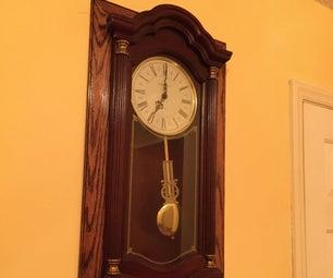 Built in Clock Shelf