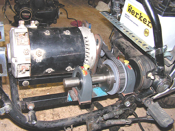 Picture of Connecting the Motor to the Drive Shaft