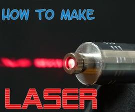 Powerful burning Laser