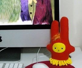 'Dust Bunny' plush screen duster