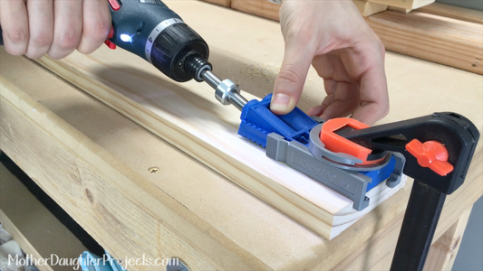 Attach Top Board Using Pocket Holes