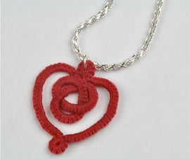 Tatted Celtic Heart Necklace