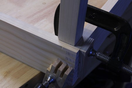 Attach the Legs to the Upper Table Frame