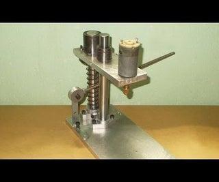 DIY PCB Press Drill Homemade Mini Drilling
