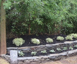 Two-tier Dry Stack Garden Wall