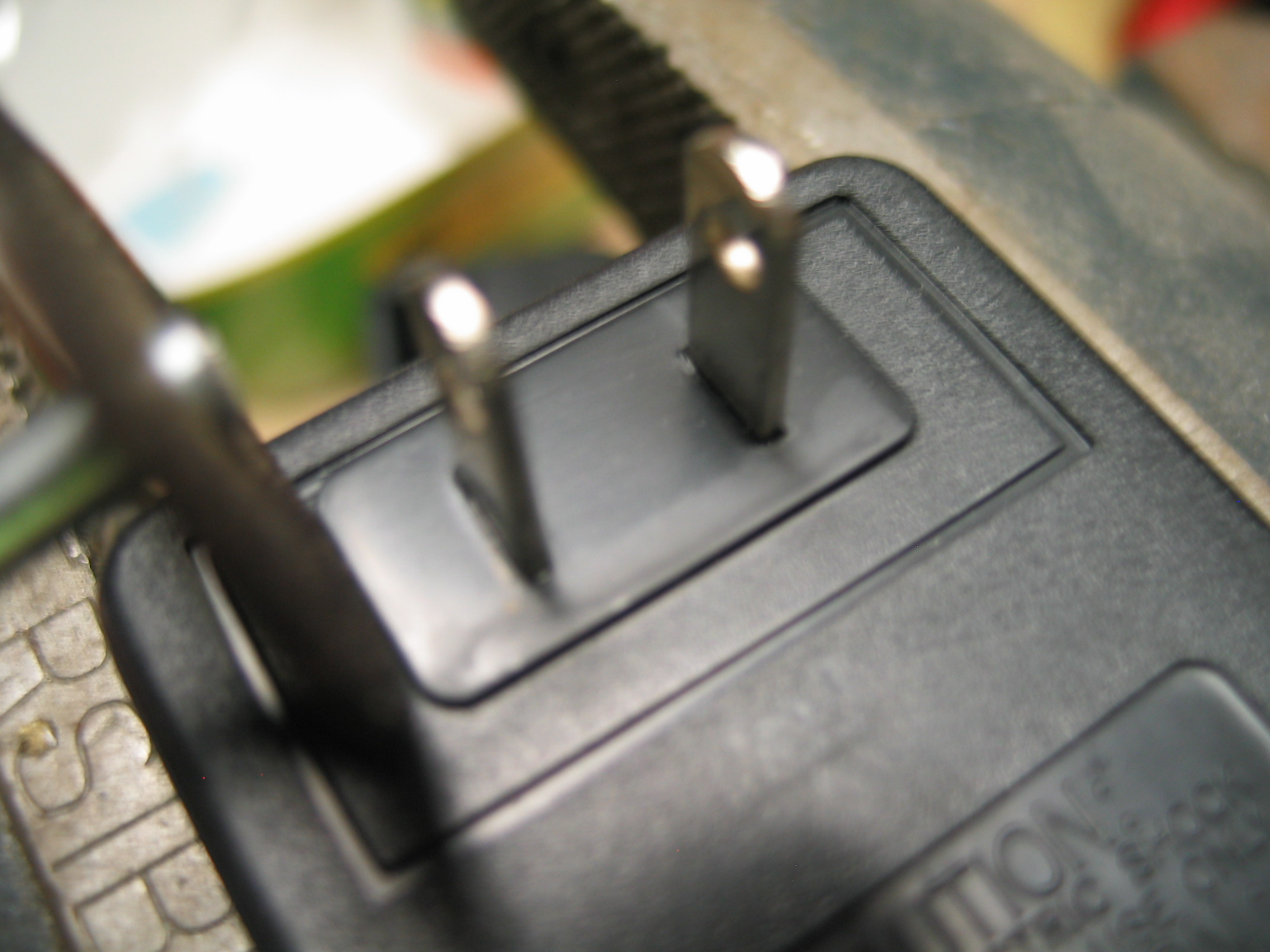 Picture of Cutting Around the Prongs for Easier Opening