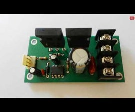 DC Motor Driver Using Power Mosfets [PWM Controlled, 30A Half Bridge]