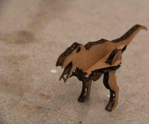 Lasercut Cardboard Dinosaurs