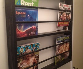 Wooden Magazine Rack from Ikea parts
