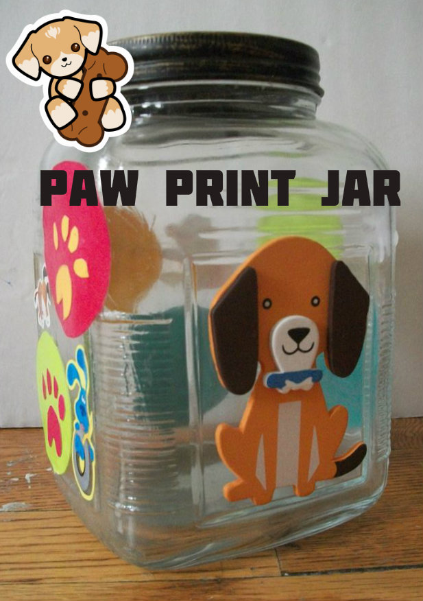 Picture of Paw Print Dog Treat Jar