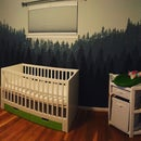 Make Your Own Forest Wall Mural