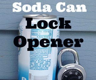 Open Pad Locks and Combination Locks With a Soda Can