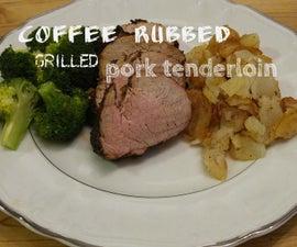 Coffee Rubbed Grilled Pork Tenderloin