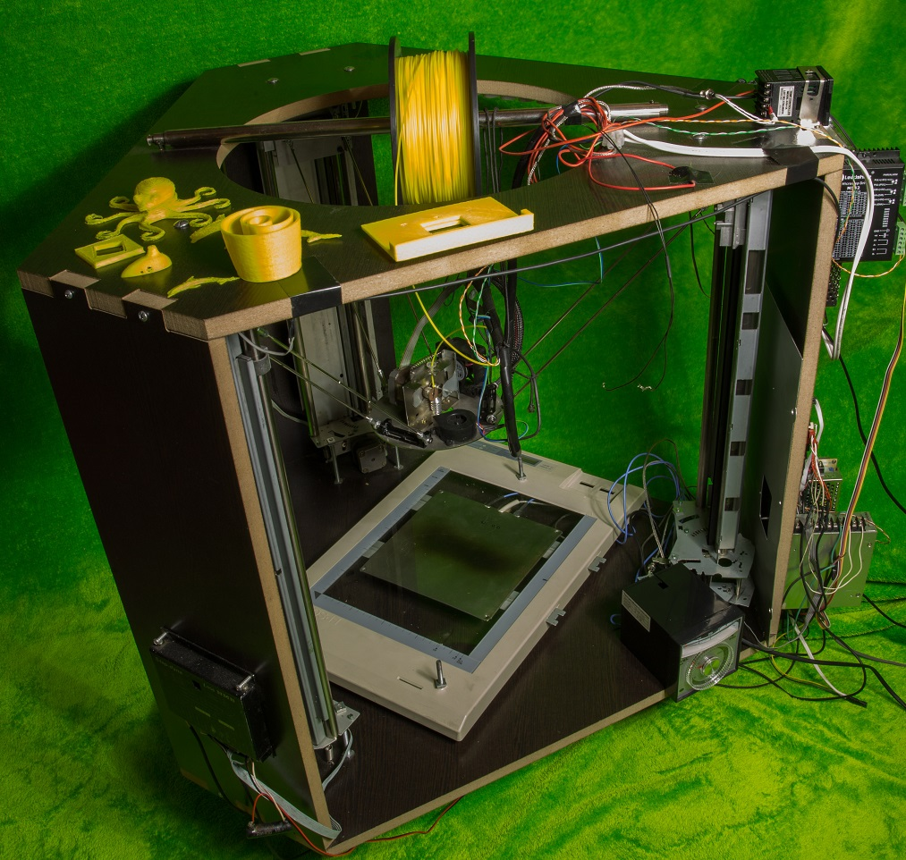 Picture of DIY Delta 3D Printer Using Low Cost Recycled Parts