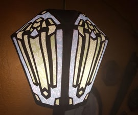 Art Deco Paper Lampshade
