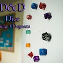 D&D Dice Fridge Magnets