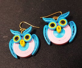 Paper Quilling Owl Earrings