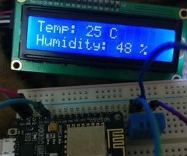 ESP8266 Weather Server With LCD Display
