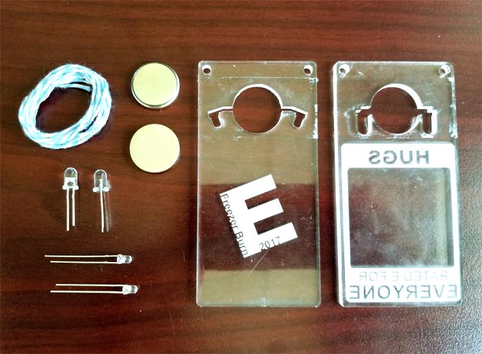 Picture of Edge Lit RGB Acrylic Laser Cut Pendant