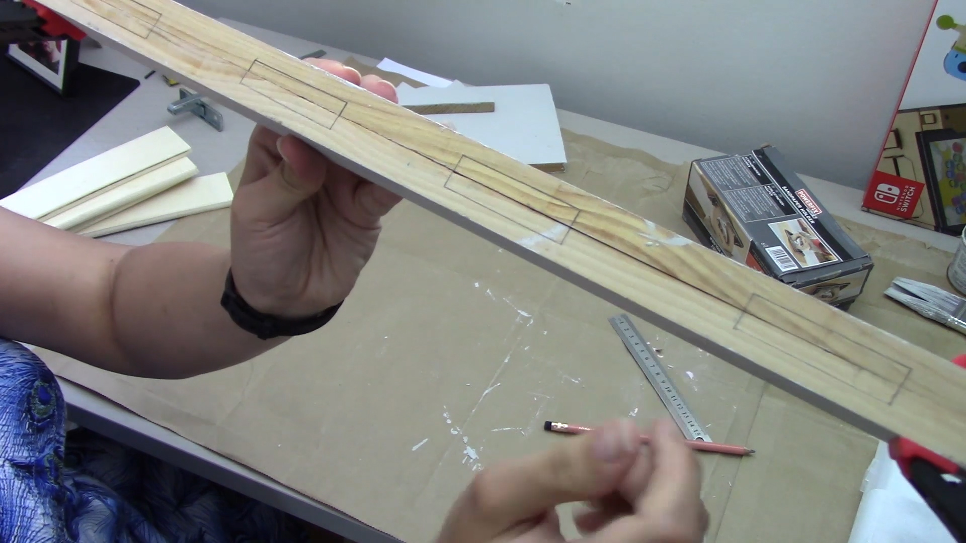 Picture of Cutting Grooves for the Slats