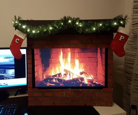 Computer Monitor Fireplace