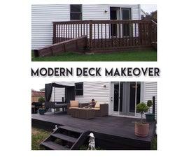 Modern Deck Makeover - on a Budget