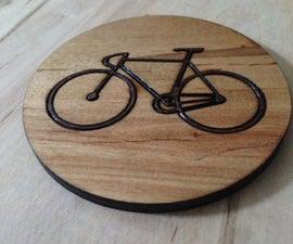 Inlay Bike Coaster