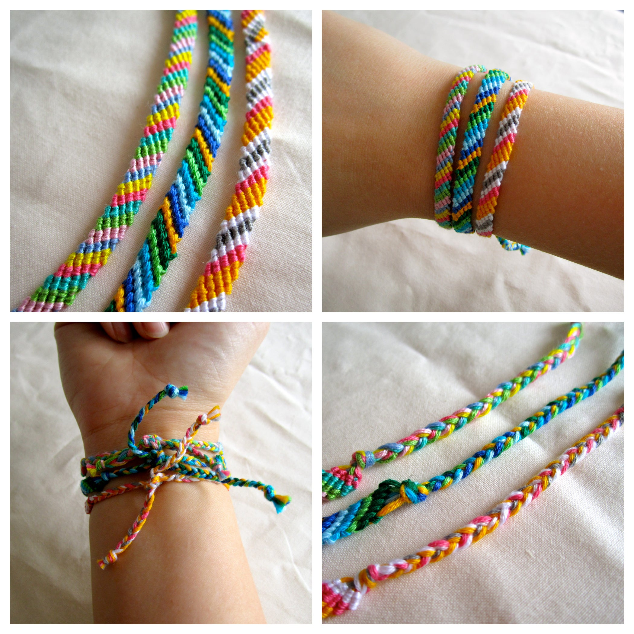 how to make bracelets made out of string