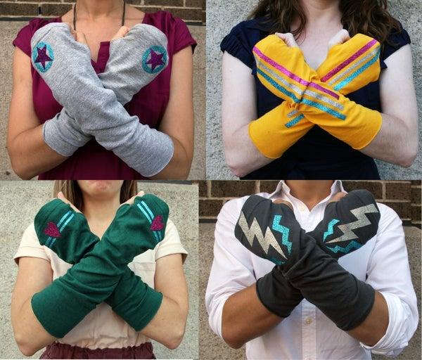 How to Make Superhero Arm Warmers From an Old T-shirt