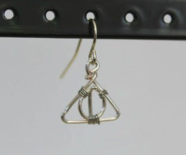 Deathly Hallows Wire Earrings