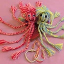 Toy Octopus Yarn Doll. No Sewing.