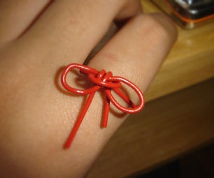 Paperclip Bow Ring