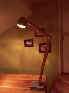 2CV Lamp (wood and Concret)