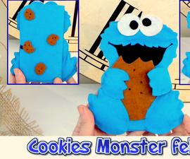 DIY, mobile felt case like the Cookie Monster, easy crafts