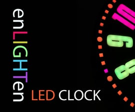 Web-Connected SMART LED Animation Clock With Web-based Control Panel, Time Server Synchronized