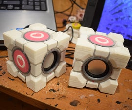 Portal 2 Companion Cube Audio Speaker