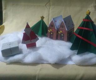 Paper Santa's Village!