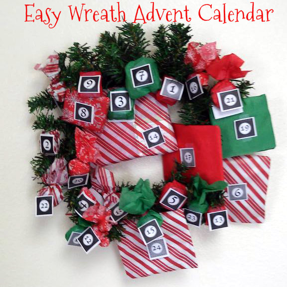 Picture of Easy Advent Calendar Wreath
