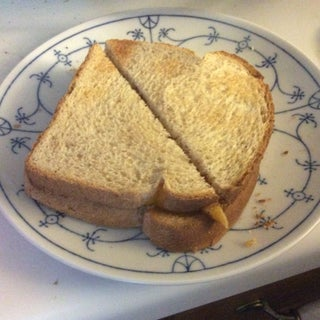 2 Minute Toaster Oven Grilled Ham and Cheese Sandwich