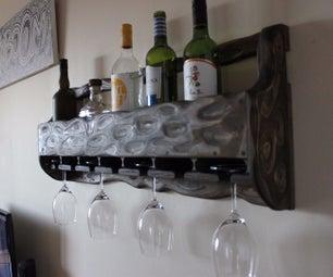 DIY Wine Shelf