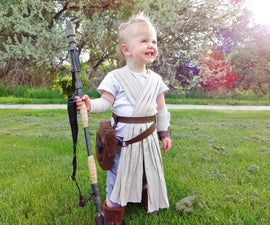Star Wars Rey costume with props