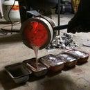 Crucible Tongs & Melting 56kg of Aluminium