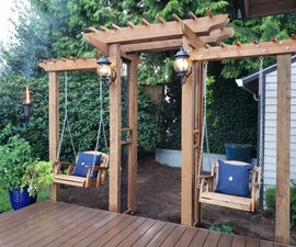 Arbor Arch With Dual Swings
