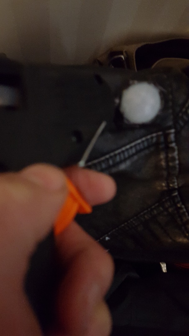 Picture of Cut Out Holes on the Jacket for the Motion Sensors