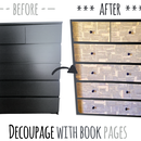 Beautify an IKEA Malm Dresser with Decoupage Technique